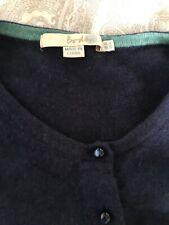 Boden Cashmere Short Sleeved Cardigan Navy Blue Size 10