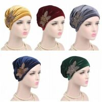 Women Hats 2017 Indian Cap Velvet Scarf Hat Ladies Turban Hats Wrap Cancer Chemo
