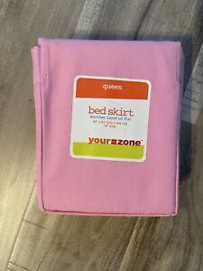 Queen Size Pink Bedskirt
