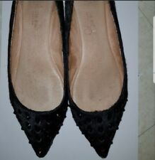 ausm GENUINE LEATHER POINTY FLATS