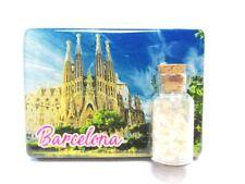 Barcelona Sagrada Familia Foto Magnet 7cm Epoxid Sandfläschen Souvenir