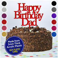 Custom Cake Topper Happy Birthday Dad Personalised Customised ANY NAME WORD