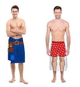 "Big Mouth Handyman Nice Leg Beach Towel Optical Illusion Pool Gag Gift 54""x27"""