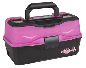 Flambeau Outdoor 6382 Classic 2-Tray Tackle Box, Frost Pink/Black