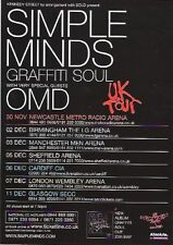 SIMPLE MINDS / OMD 2009 Tour UK FLYER / mini Poster 8x6 inches