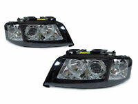 DEPO D2S Black Angel Halo Projector Headlights For 98-01 Audi A6 C5 Xenon Models