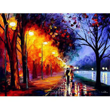 DIY Paint By Numbers Kit Romantic Rain Street Lights Painting On Canvas Unframed
