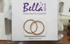 **SPECIAL***1xpair XLGE 18mm 14K Rose Gold Plated Sleepers PLAIN ONLY