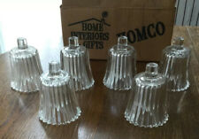 Votive Cups Set of 6 Homco Home Interior Crystal Clear Glass Candle Holders