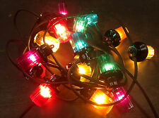 Royale Lanterns Retro BIG Christmas Lights 22M with 20 Lamps inc Bulbs RUBBER