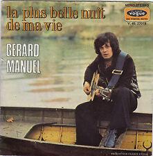 GERARD MANUEL LA PLUS BELLE NUIT DE MA VIE / JE PARIE QU'IL PLEUT A PARIS FR 45