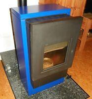Wodtke Smart - Pelletofen mit Wassertasche in Blau/Schwarz - PO 04.6