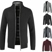 Warm Thicken Coat Sweater Pullover Winter Knitwear Men's Zipper Casual