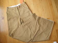 * New Womens Joe Fresh Size 2  Khaki Brown Wide Flare Leg Pants Cotton Spandex