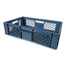 1 x Brotkiste Obst-/ Gemüsebox Lagerkiste Transportbox Gitterbox grau 15cm Höhe