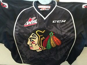 Portland Winterhawks Hockey Jersey Black CCM Size 58 or 4XL Authentic