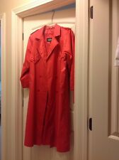 Braetan Rain Coat Woman's Size 9/10 Red