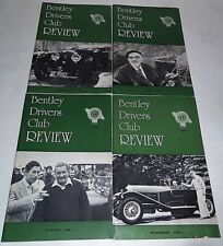 Bentley Drivers Club Review 1981, 4 Issues, 139 Feb, 140 May, 141 Aug, 142 Nov