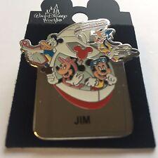 WDW - Monorail JIM Name Pin FAB 4 Mickey Minnie Goofy Donald Disney Pin 15004