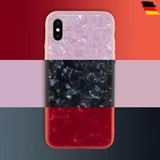 Handyhülle Tasche Schutz Cover+Transparent TPU Case für iPhone X Muschel Design