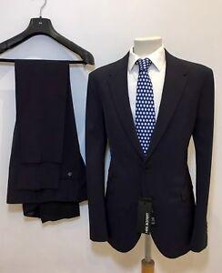 NEIL BARRETT Dark Navy Skinny Fit Fitted Suit 40 x 36