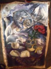 STILL LIFE B  by Ruth  FREEMAN  ACRYLIC ON  UNSTRETCHED CANVAS 22  X  35