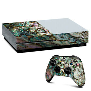 Xbox One S Console Skins Decal Wrap ONLY Abalone Shell Gold underwater