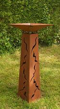 Gartendeko Rostsäulen konisch 100 cm mit Schale  Stehle 2018 *+