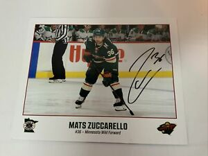 Autographed Mats Zuccarello Wild 10x8 Photo