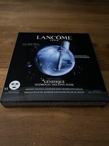Lancome Advanced Genifique Hydrogel Melting Mask Total 4 New In Sealed Box.