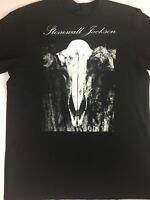 Stonewall Jackson T-Shirt Adult L/XL Black Cotton Mens Womens Skull Concert Tee