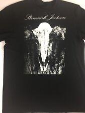 Stonewall Jackson T-Shirt Adult L/XL Black Cotton Mens Womens Skull Concert Tee