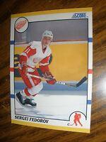 1990-91 Score Traded Sergei Fedorov Detroit Red Wings  Rookie NrMt