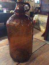 Vintage 1950 Clorox Bleach Amber Brown Glass Bottle With out Lid Half Gallon