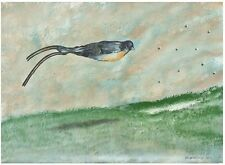 Oded Feingersh: Bird Flying / Israeli Jewish / Pop Art Contemporary Surrealism