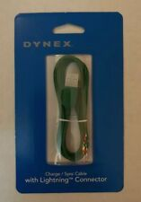 New Green Dynex 3 Ft Lightning USB Connector Charge Sync Data Apple Cable