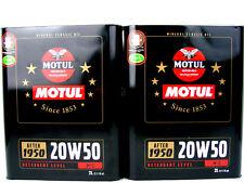 2x 2liter MOTUL DE ÉPOCA 20w50 Classic ACEITE ACEITE DE MOTOR OIL AB 1950 20w-50