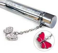 Swarovski  Crystalline  Ballpoint Pen, White, Fuchsia Butterfly   New 1097051