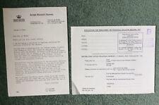 Gb Philatelic bureau; application form and letter, Jan 1973 *bl