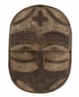 Maschera Africano Teke Kidumu Rdc Congo Arte Etnico Primo Primitivo 17136