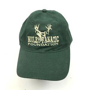 Muley Fanatic Foundation Hat Cap One Size Adjustable Strapback Hunter Green Mens