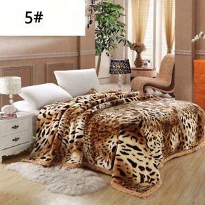 Luxury Heavy 2ply Winter Soft Warm Bed Blanket King Double Flannel Blanket HOT