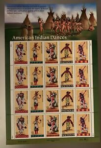 US SCOTT 3072-76 OF 20 AMERICAN INDIAN DANCE 32 CENTS MNH