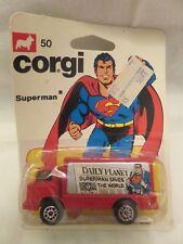 Vintage Corgi Superman 50 Daily Planet Red Van DieCast DC Comics 1978