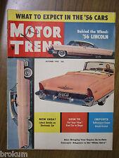 MOTOR TREND OCTOBER 1955 VOLKSWAGEN COUPE ARNOLT-BRISTOL '56 LINCOLN