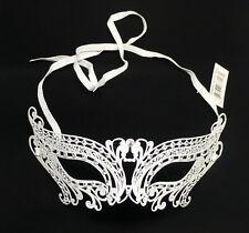 White laser cut Venetian Butterfly Mask Masquerade Rhinestones for Ladies Girls