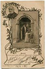 1905 Barzio - Porta della casa Avita di Alessandro Manzoni - FP B/N VG