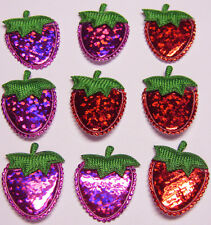 Cute Padded Shiny Strawberry Appliques x80 Hair/Bow