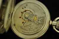 VINTAGE 18 SIZE WALTHAM APPLETON TRACY + CO 3 OZ COIN SILVER POCKET WATCH 1903
