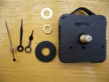 QUARTZ CLOCK MECHANISM LONG SPINDLE 36mm  BLACK HANDS